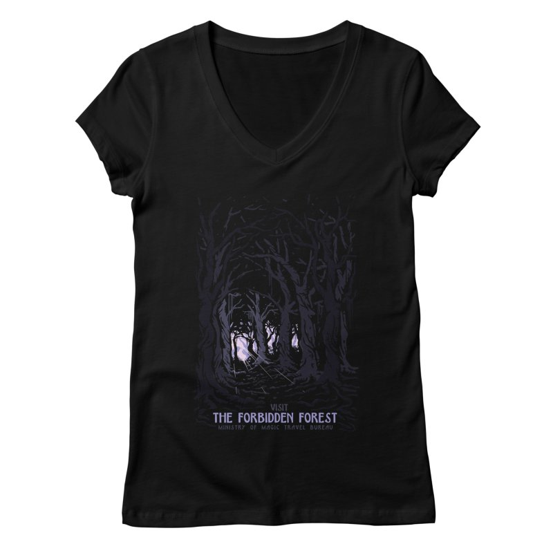 Visit The Forbidden Forest Women's Regular V-Neck by mathiole