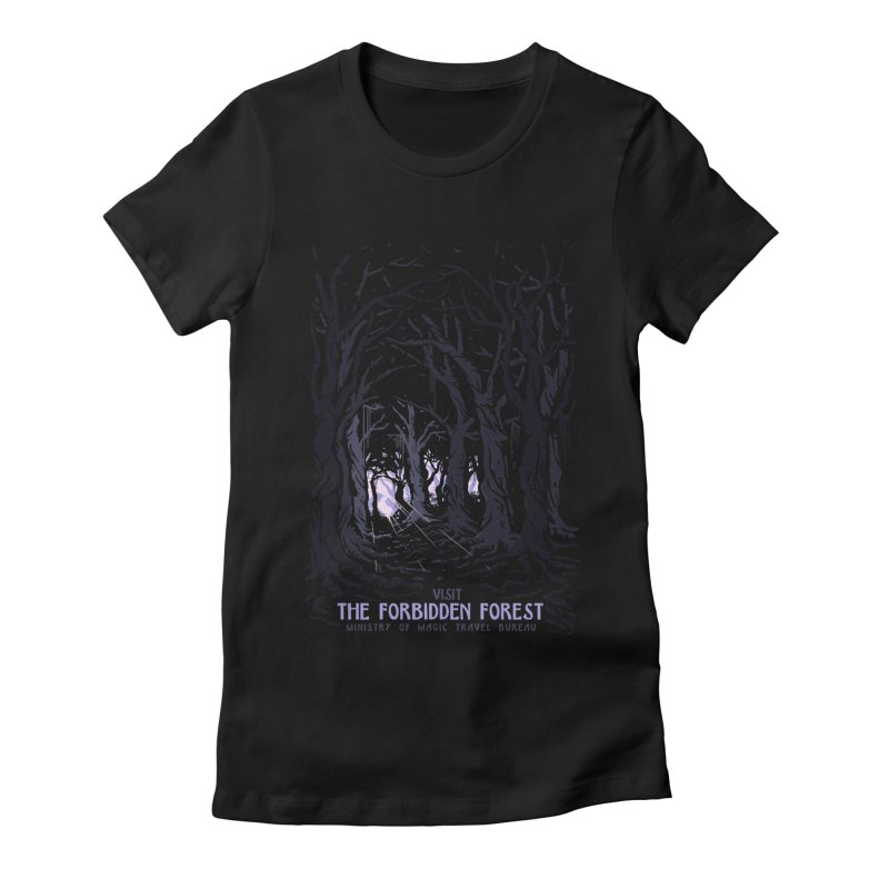 Visit The Forbidden Forest Women's Fitted T-Shirt by mathiole