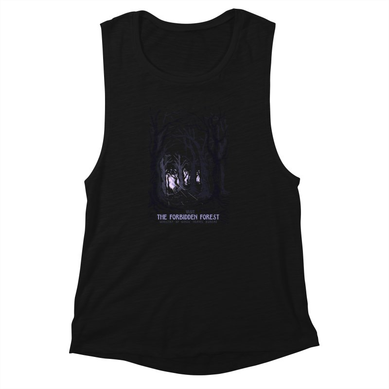 Visit The Forbidden Forest Women's Muscle Tank by mathiole