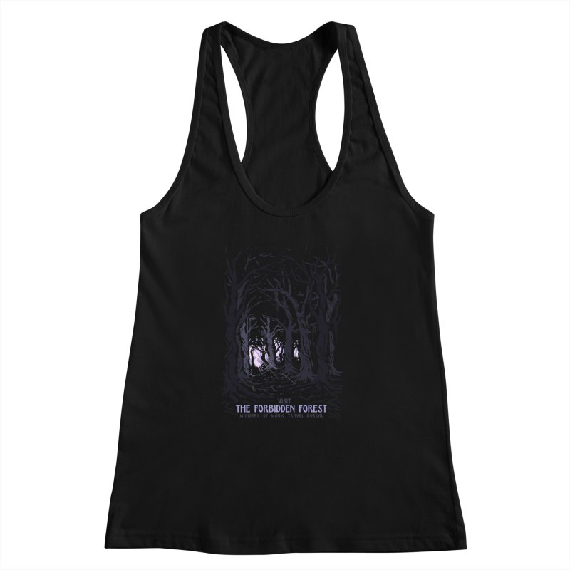Visit The Forbidden Forest Women's Racerback Tank by mathiole