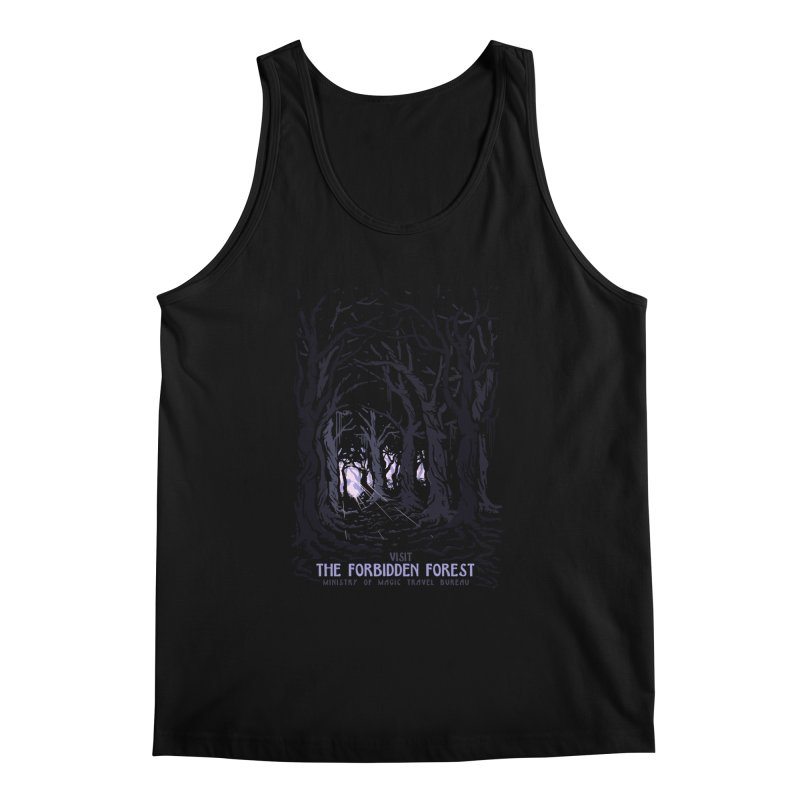 Visit The Forbidden Forest Men's Regular Tank by mathiole