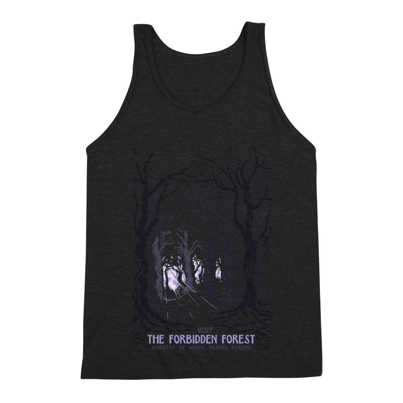 Visit The Forbidden Forest Men's Triblend Tank by mathiole