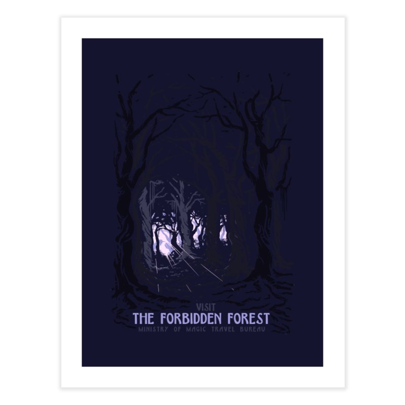 Visit The Forbidden Forest Home Fine Art Print by mathiole