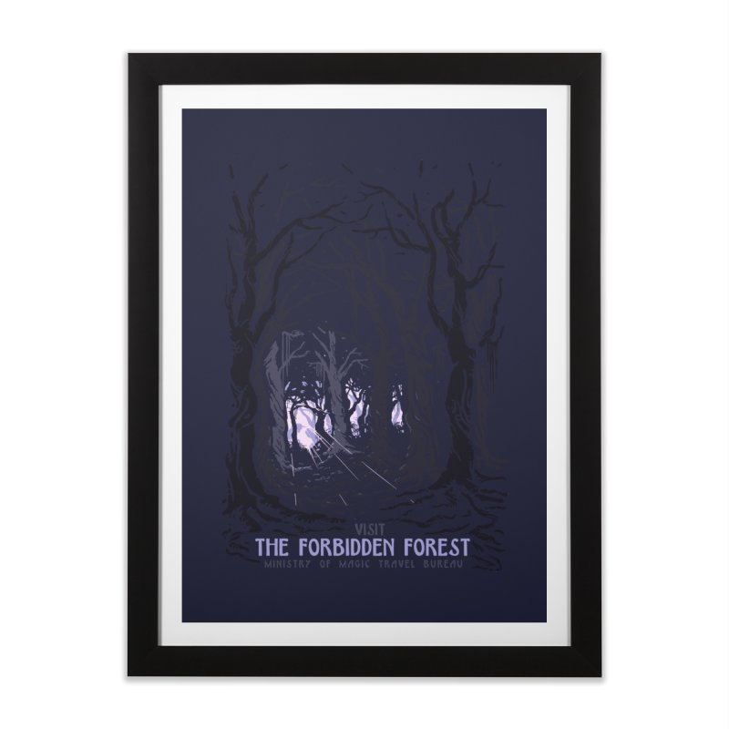 Visit The Forbidden Forest Home Framed Fine Art Print by mathiole