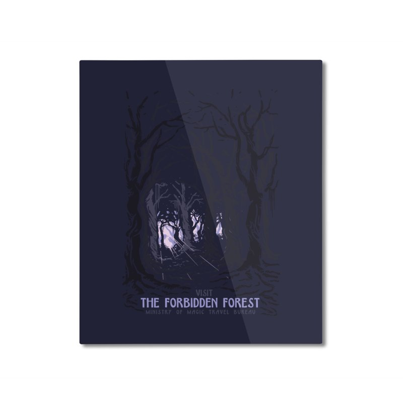 Visit The Forbidden Forest Home Mounted Aluminum Print by mathiole