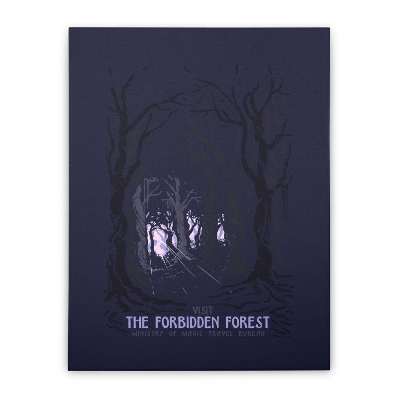 Visit The Forbidden Forest Home Stretched Canvas by mathiole