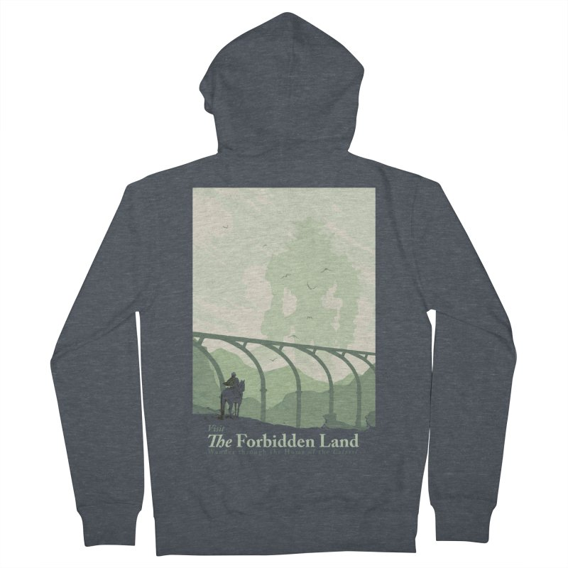 Visit The Forbidden Land Women's French Terry Zip-Up Hoody by mathiole