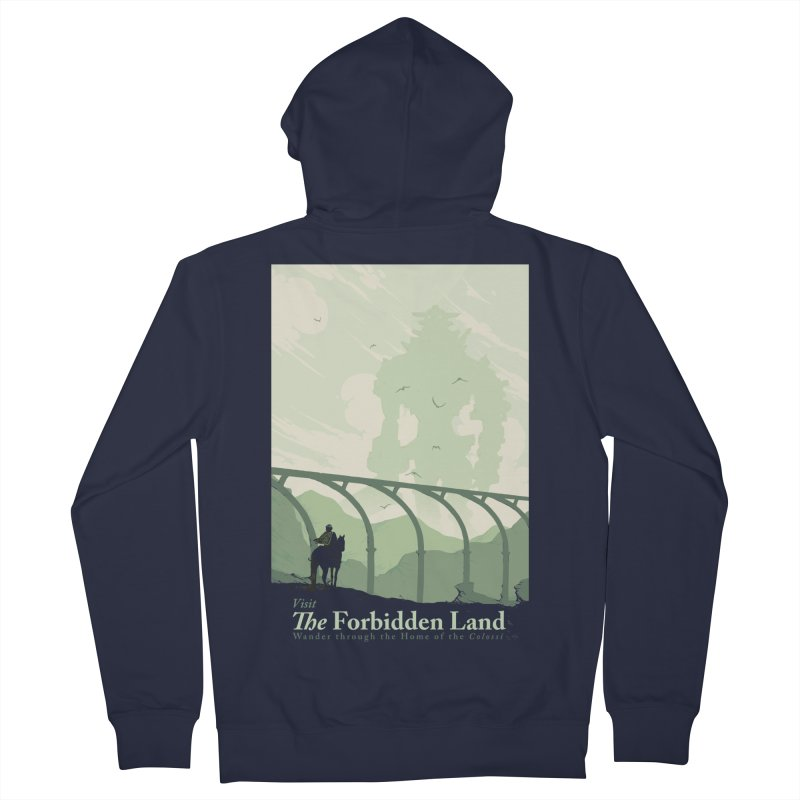 Visit The Forbidden Land Men's French Terry Zip-Up Hoody by mathiole