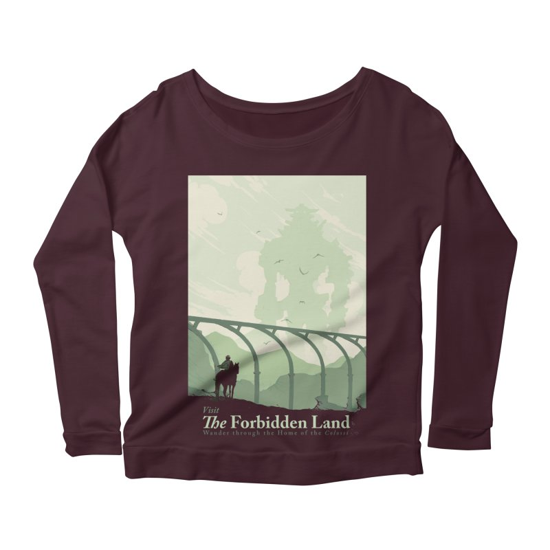 Visit The Forbidden Land Women's Scoop Neck Longsleeve T-Shirt by mathiole