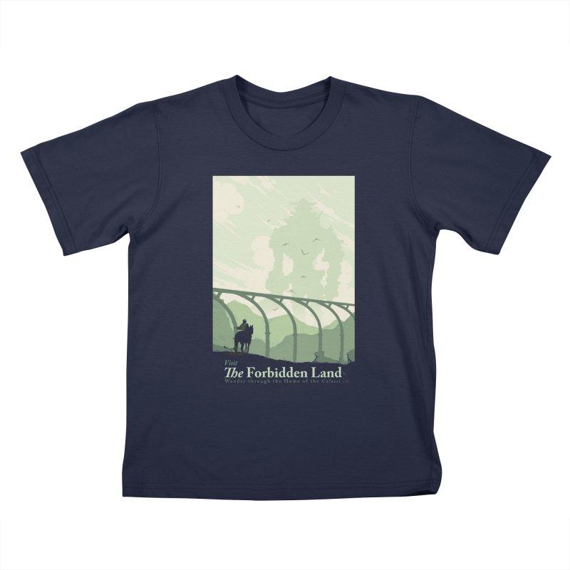 Visit The Forbidden Land Kids T-Shirt by mathiole