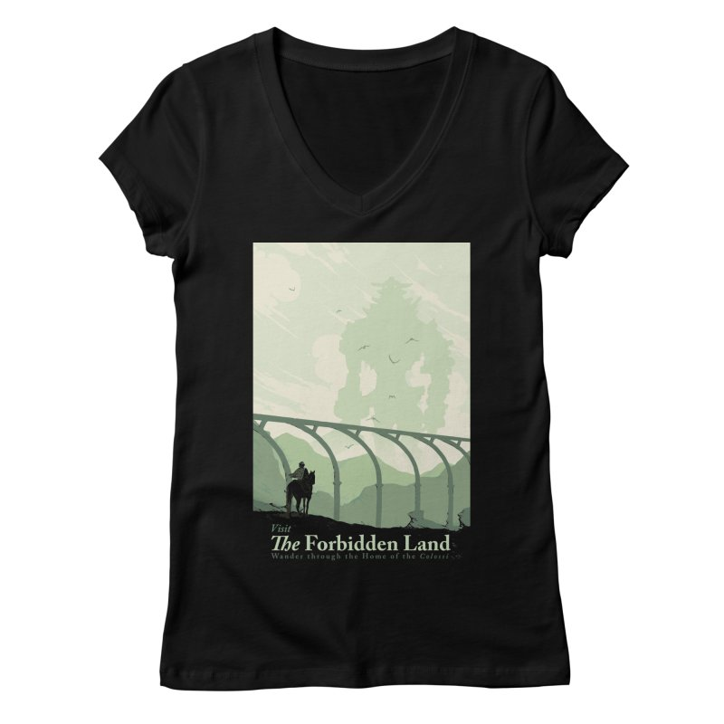 Visit The Forbidden Land Women's Regular V-Neck by mathiole