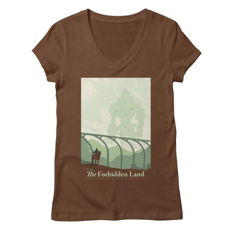 Visit The Forbidden Land Women's Regular V-Neck by mathiole