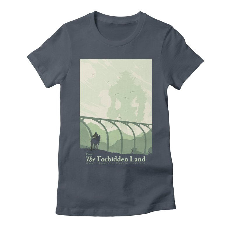 Visit The Forbidden Land Women's Fitted T-Shirt by mathiole