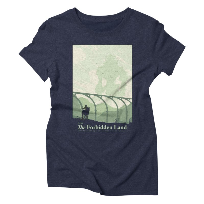 Visit The Forbidden Land Women's Triblend T-Shirt by mathiole