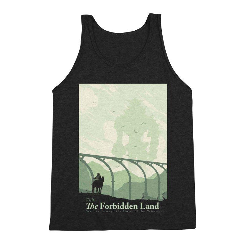Visit The Forbidden Land Men's Triblend Tank by mathiole