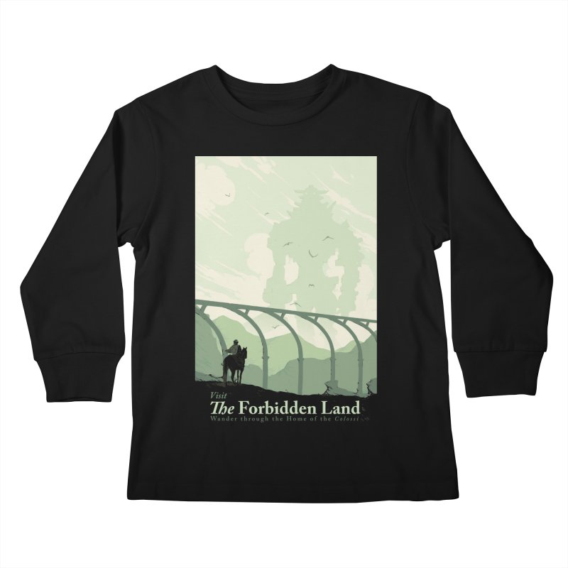 Visit The Forbidden Land Kids Longsleeve T-Shirt by mathiole