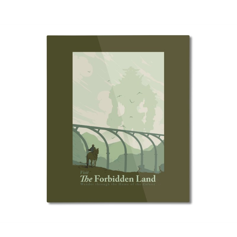 Visit The Forbidden Land Home Mounted Aluminum Print by mathiole