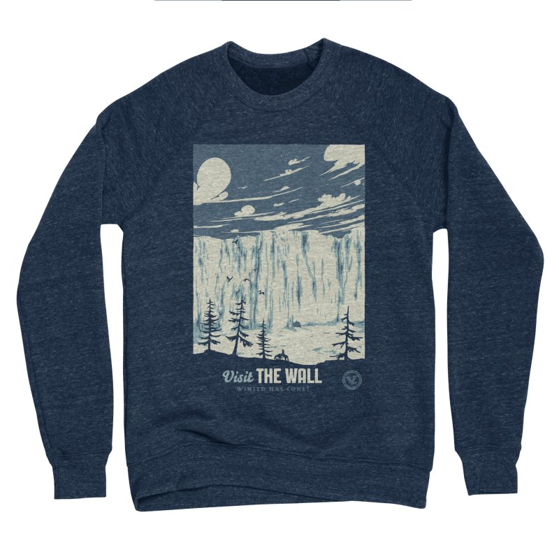 Visit The Wall Men's Sponge Fleece Sweatshirt by mathiole