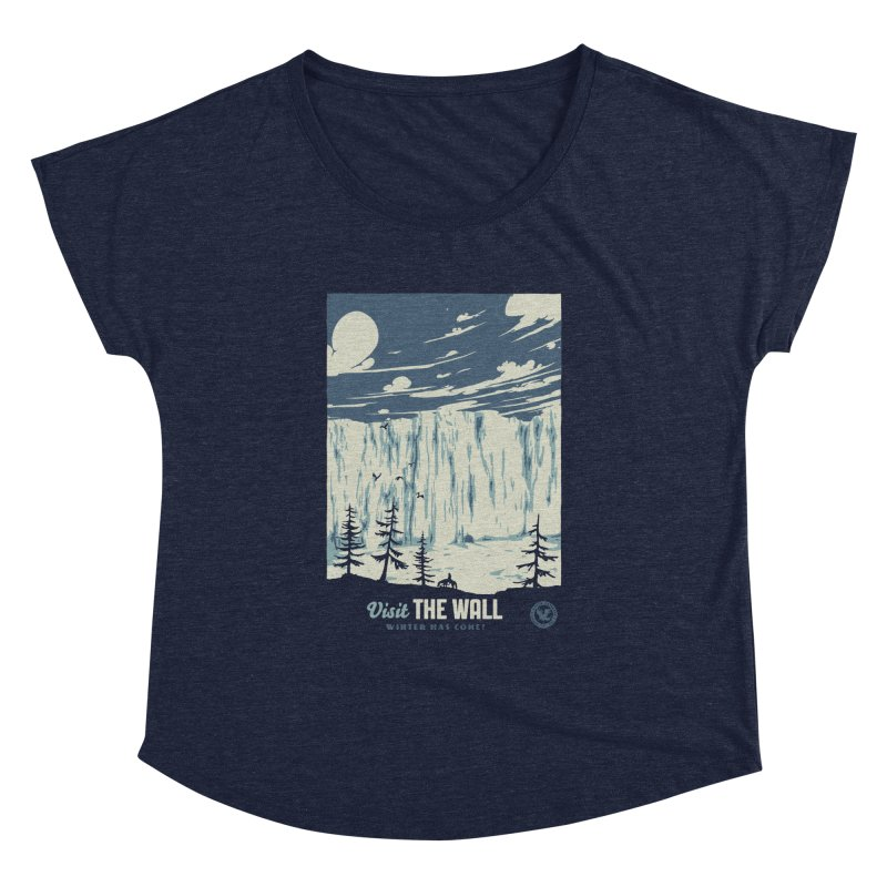 Visit The Wall Women's Dolman Scoop Neck by mathiole