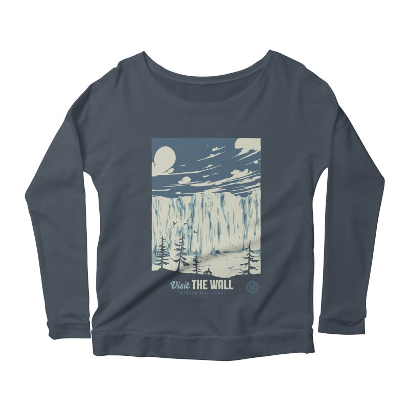 Visit The Wall Women's Scoop Neck Longsleeve T-Shirt by mathiole
