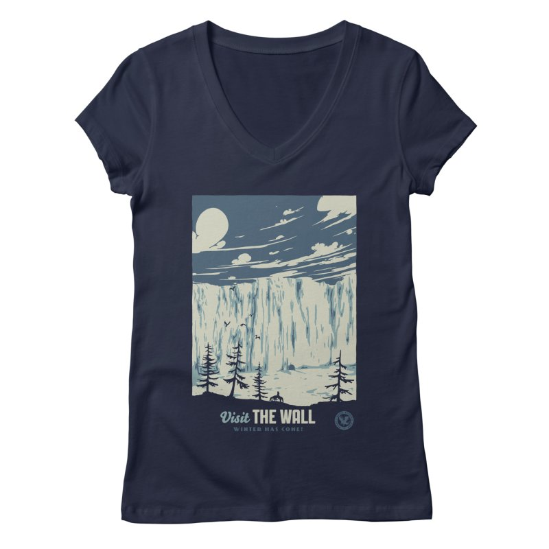 Visit The Wall Women's Regular V-Neck by mathiole