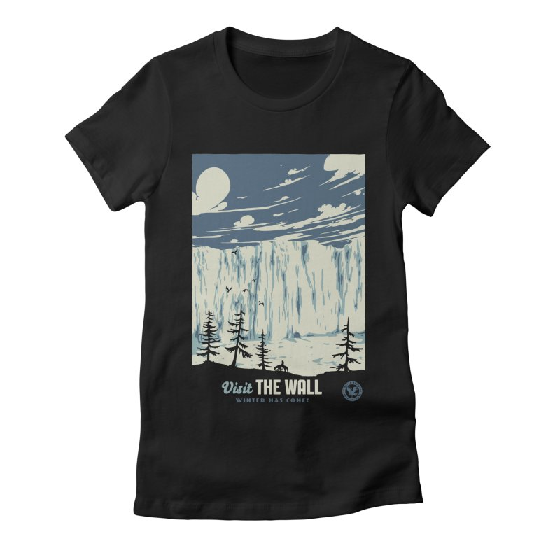 Visit The Wall Women's Fitted T-Shirt by mathiole