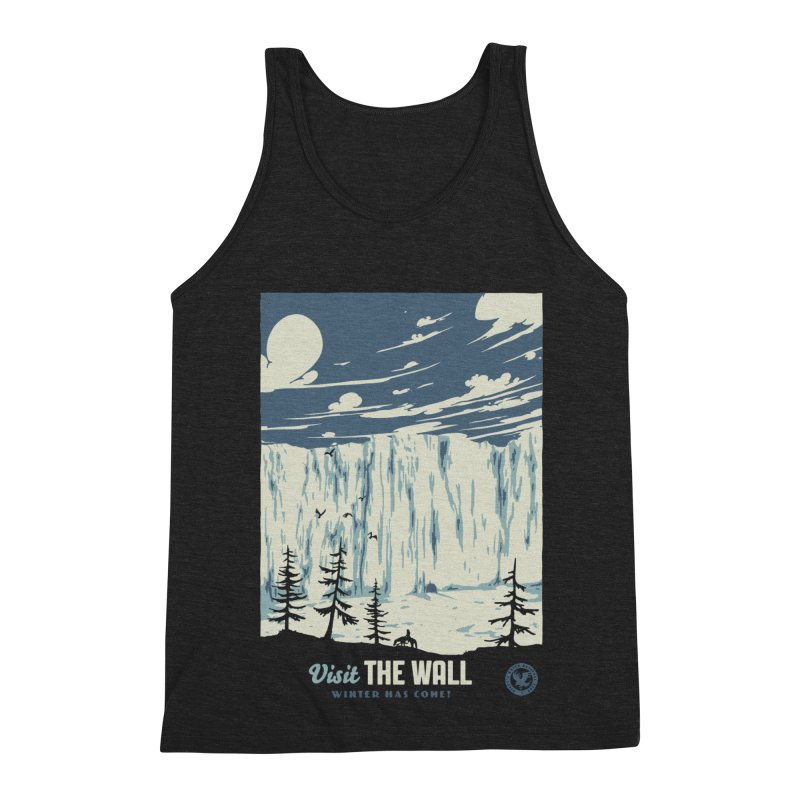 Visit The Wall Men's Triblend Tank by mathiole