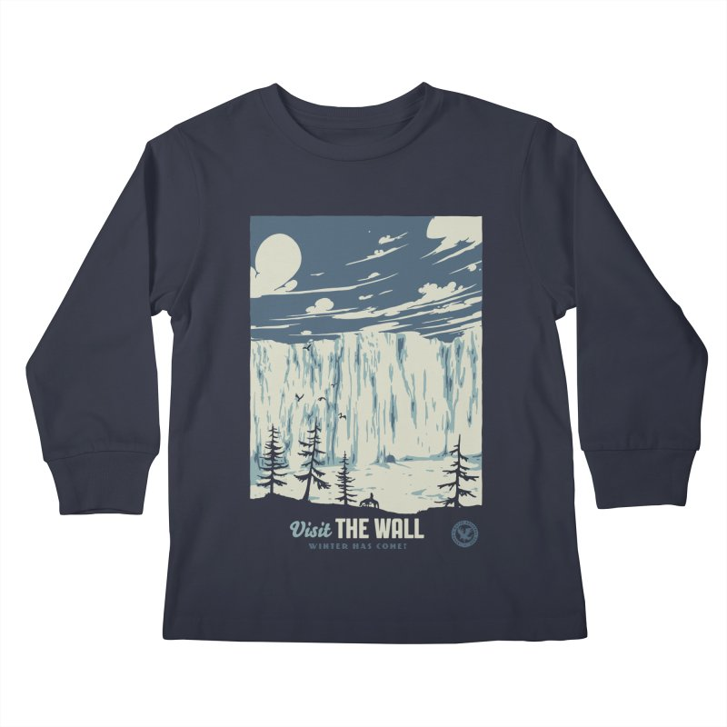 Visit The Wall Kids Longsleeve T-Shirt by mathiole