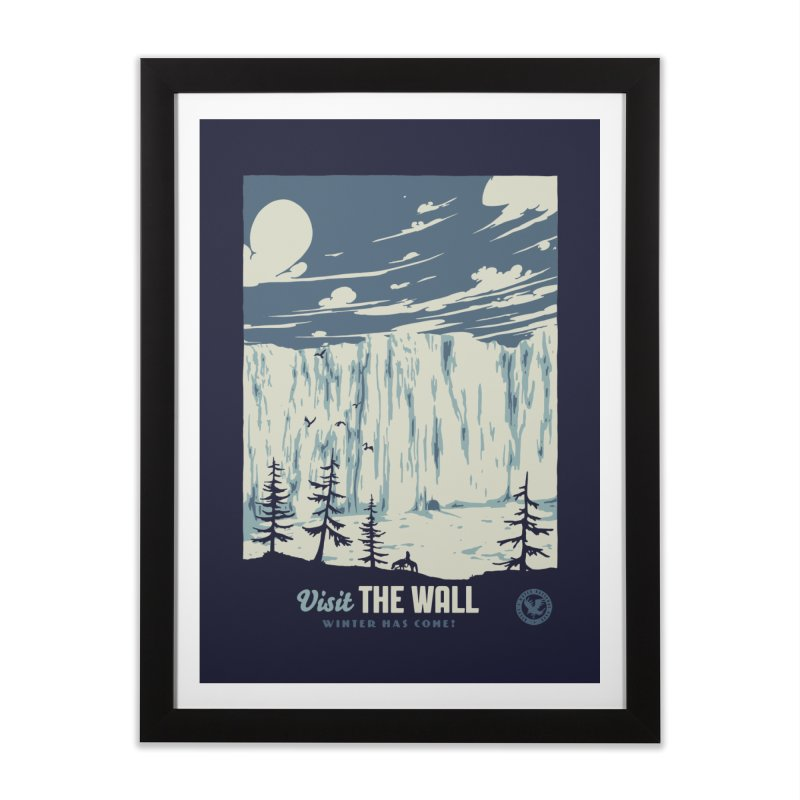 Visit The Wall Home Framed Fine Art Print by mathiole