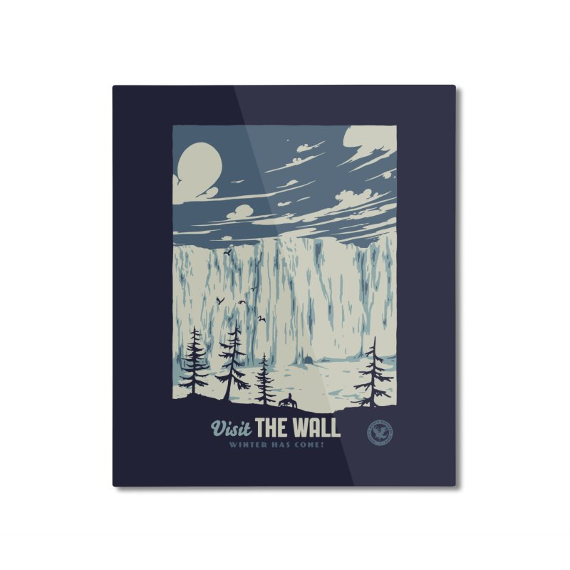 Visit The Wall Home Mounted Aluminum Print by mathiole