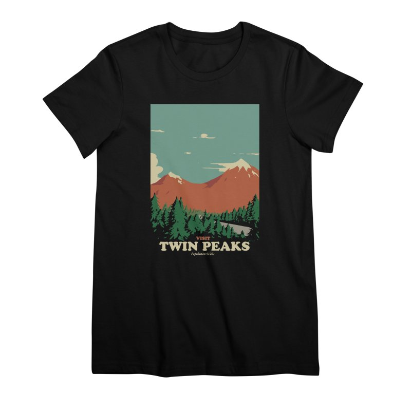 Visit Twin Peaks Women's Premium T-Shirt by mathiole