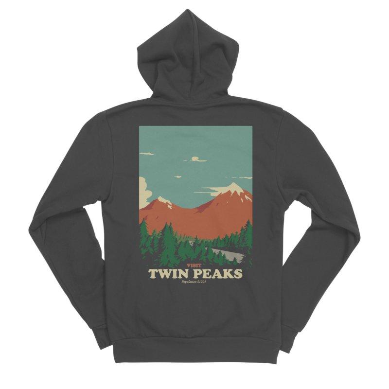 Visit Twin Peaks Women's Sponge Fleece Zip-Up Hoody by mathiole