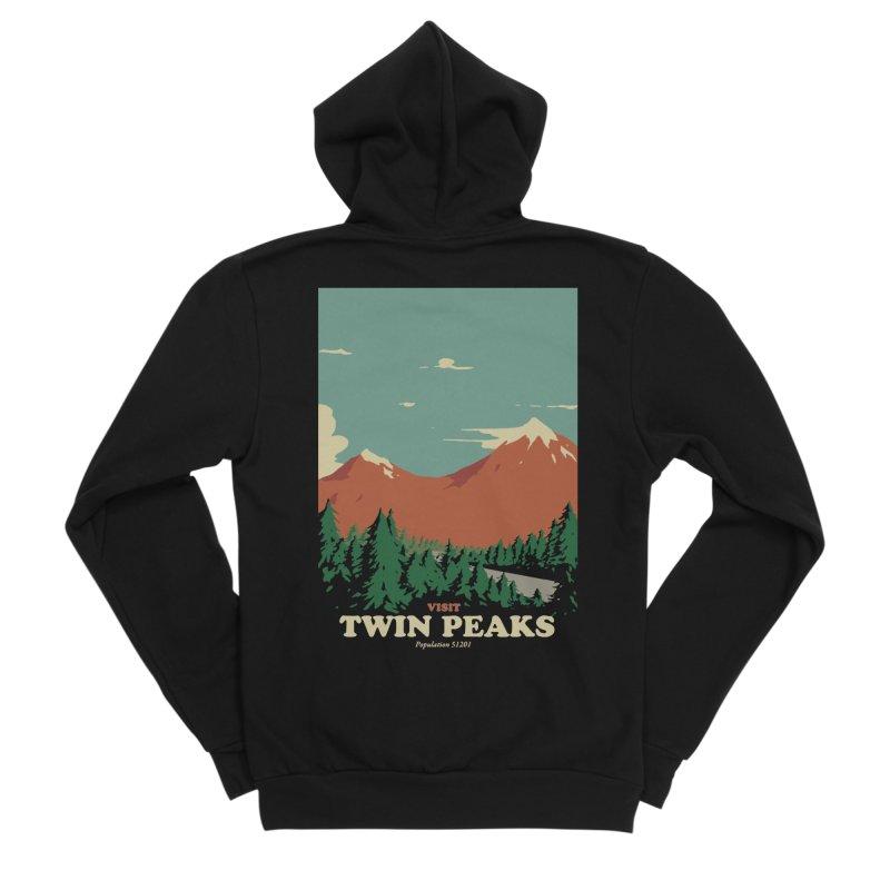 Visit Twin Peaks Men's Sponge Fleece Zip-Up Hoody by mathiole
