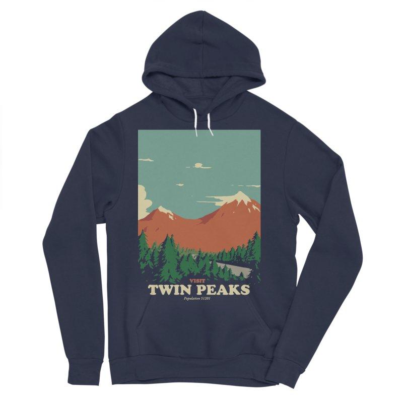 Visit Twin Peaks Men's Sponge Fleece Pullover Hoody by mathiole