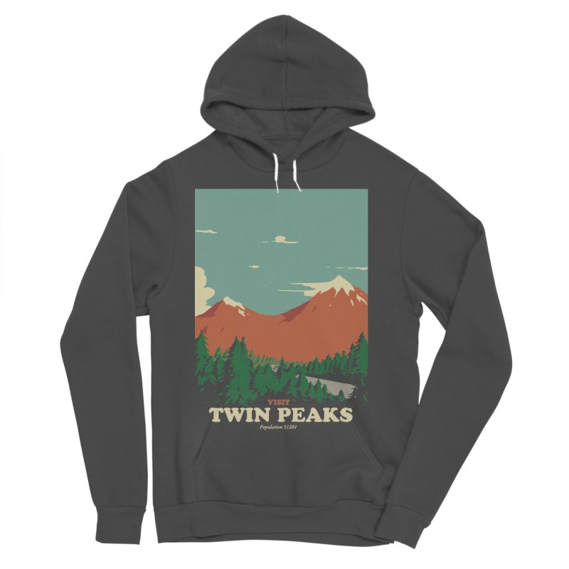Visit Twin Peaks Women's Sponge Fleece Pullover Hoody by mathiole