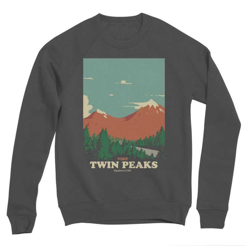 Visit Twin Peaks Men's Sponge Fleece Sweatshirt by mathiole