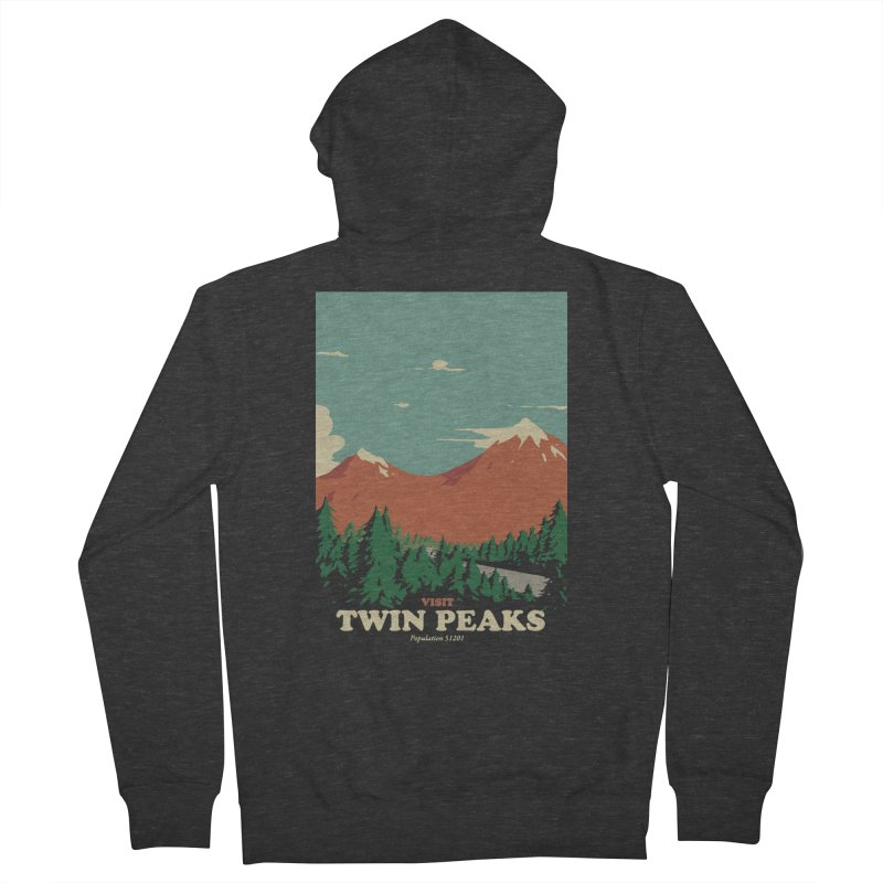 Visit Twin Peaks Men's French Terry Zip-Up Hoody by mathiole