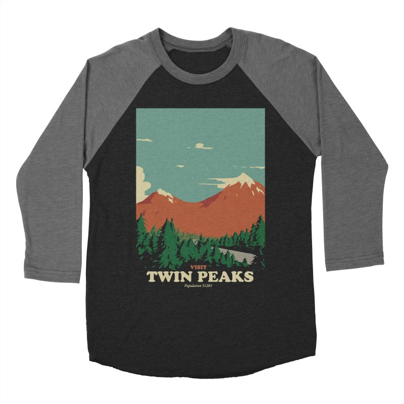Visit Twin Peaks Men's Baseball Triblend Longsleeve T-Shirt by mathiole