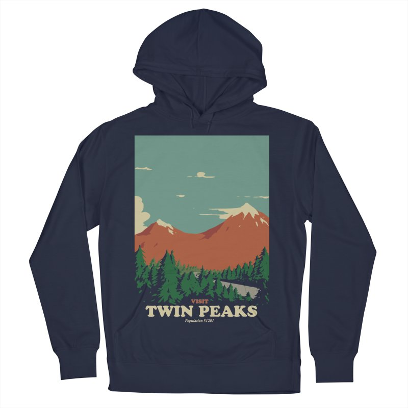 Visit Twin Peaks Men's French Terry Pullover Hoody by mathiole