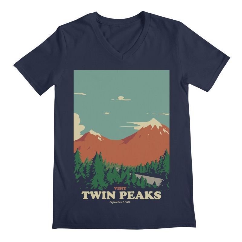 Visit Twin Peaks Men's Regular V-Neck by mathiole