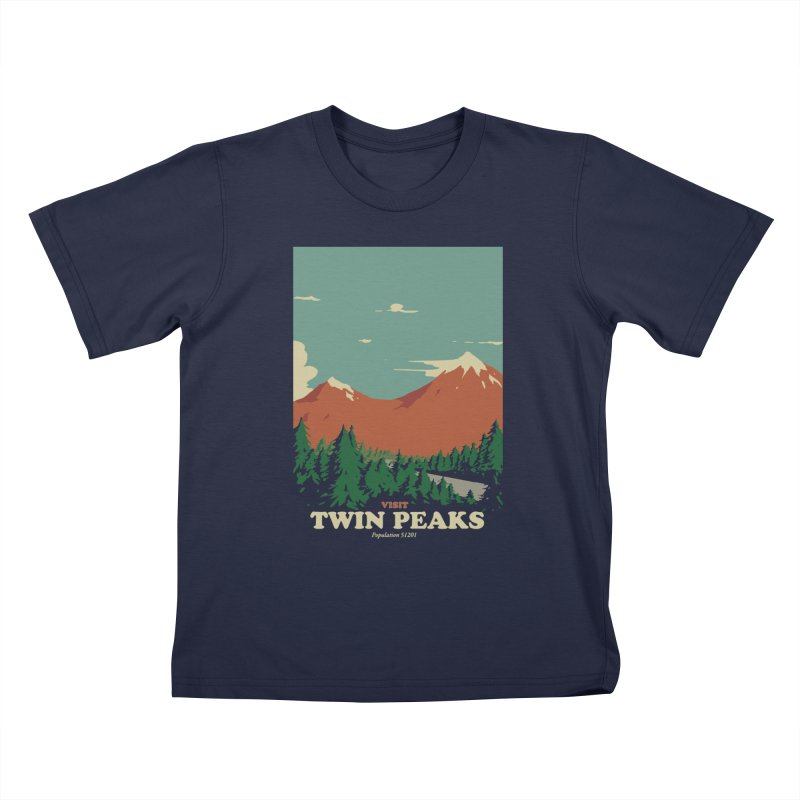 Visit Twin Peaks Kids T-Shirt by mathiole