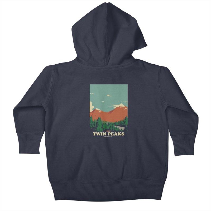 Visit Twin Peaks Kids Baby Zip-Up Hoody by mathiole