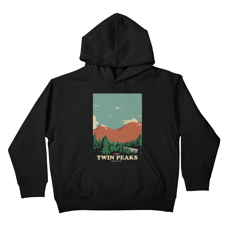 Visit Twin Peaks Kids Pullover Hoody by mathiole