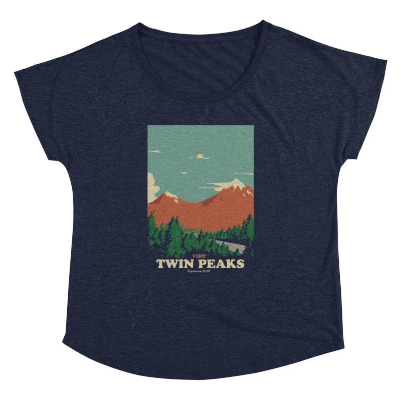 Visit Twin Peaks Women's Dolman Scoop Neck by mathiole