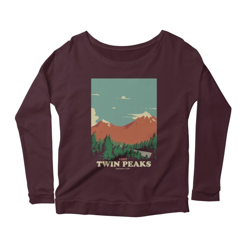Visit Twin Peaks Women's Scoop Neck Longsleeve T-Shirt by mathiole