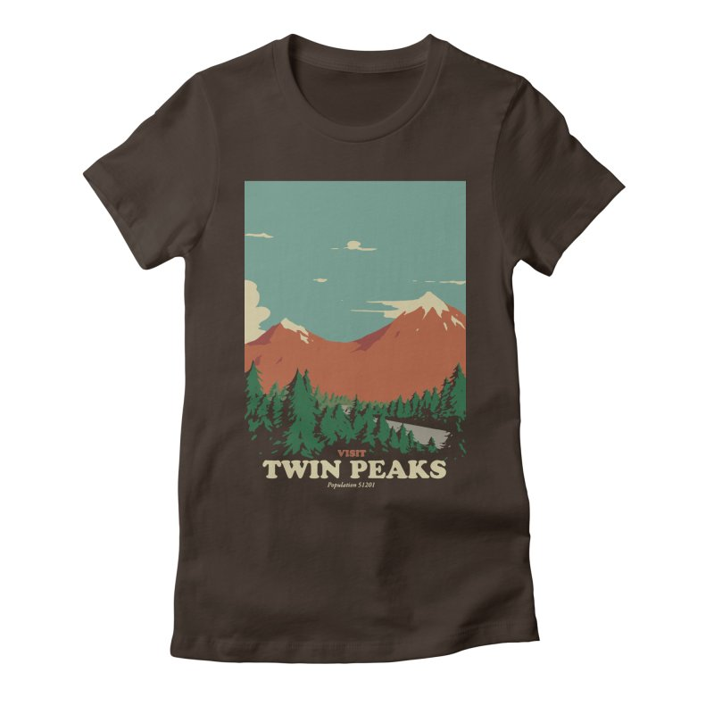 Visit Twin Peaks Women's Fitted T-Shirt by mathiole