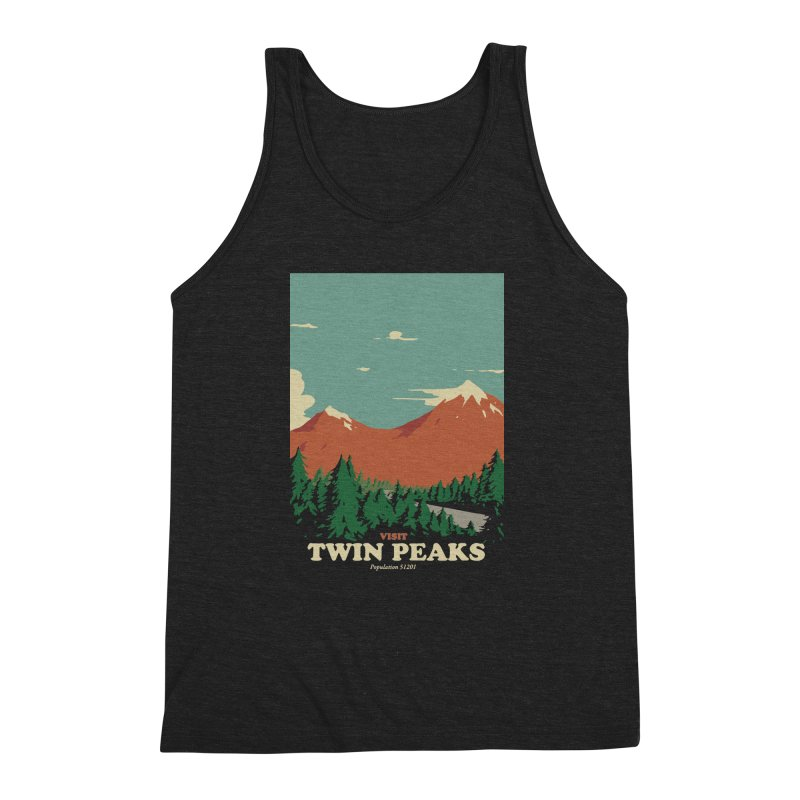 Visit Twin Peaks Men's Triblend Tank by mathiole