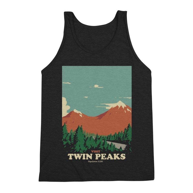 Visit Twin Peaks Men's Triblend Tank by mathiole