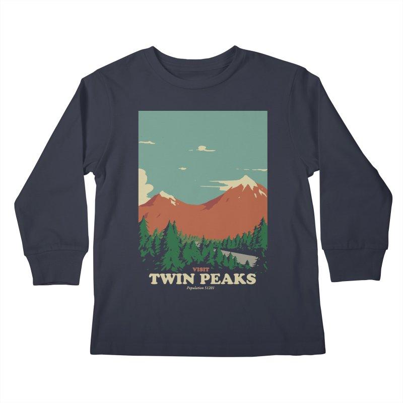 Visit Twin Peaks Kids Longsleeve T-Shirt by mathiole