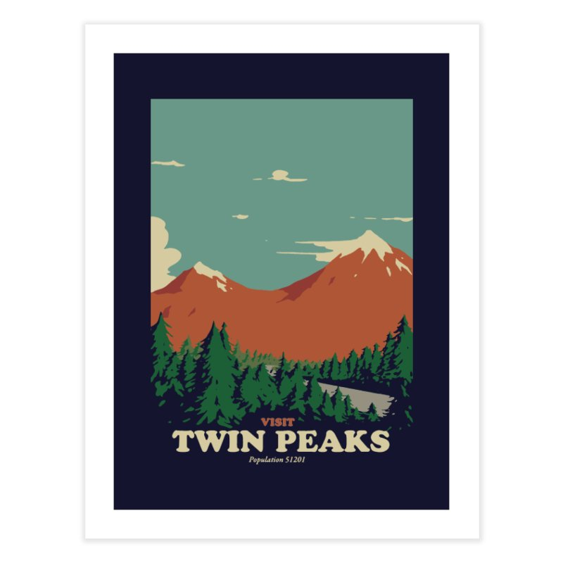 Visit Twin Peaks Home Fine Art Print by mathiole